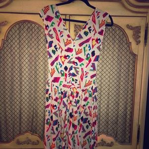 Fendi Dresses - Vintage fendi multi color dress!
